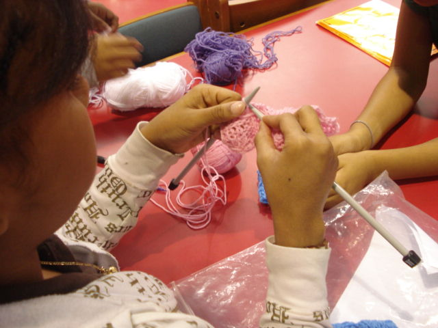 A Passion for Literacy and Service, Knitted Together