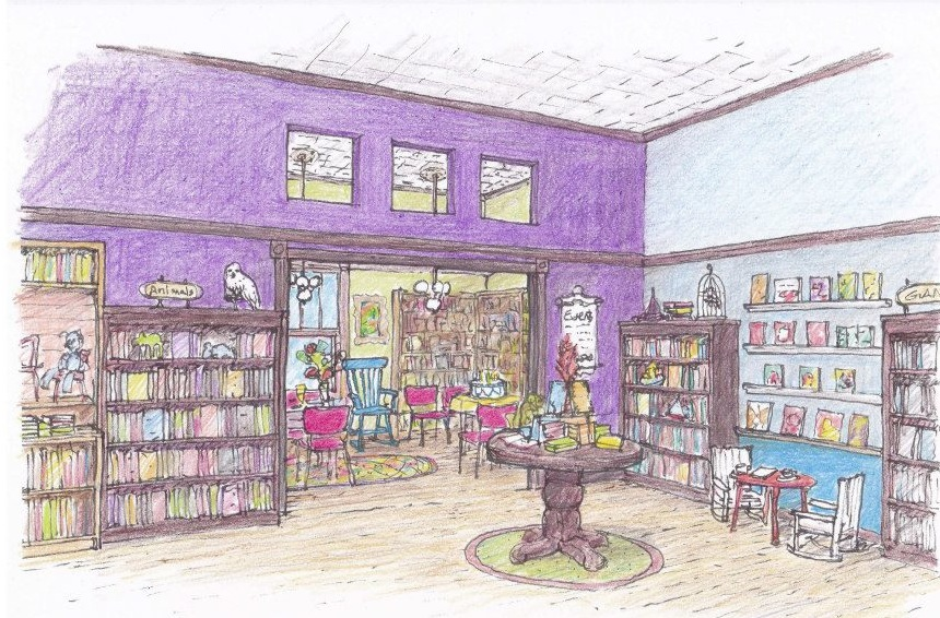 Artist's view of the new Spellbound space, incorporating some familiar items