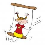 cartoon-girl-on-swing