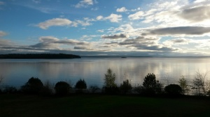 The view from a writing retreat on Lake Champlain.  Don't you feel inspired?