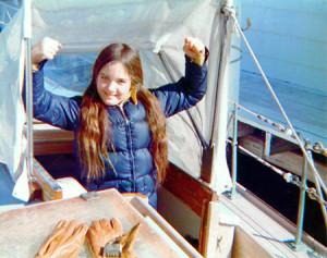 Molly as a totally terrific seafaring kid!