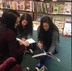 These 8th-graders have dropped in to read to each other from old picture-book favorites