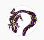 curious iguana round logo