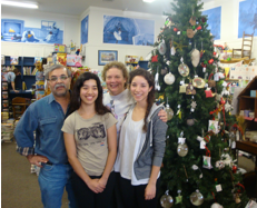 Tha Palacios family during inventory