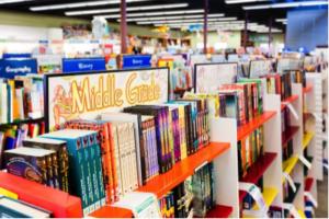 Vroman's MG shelf