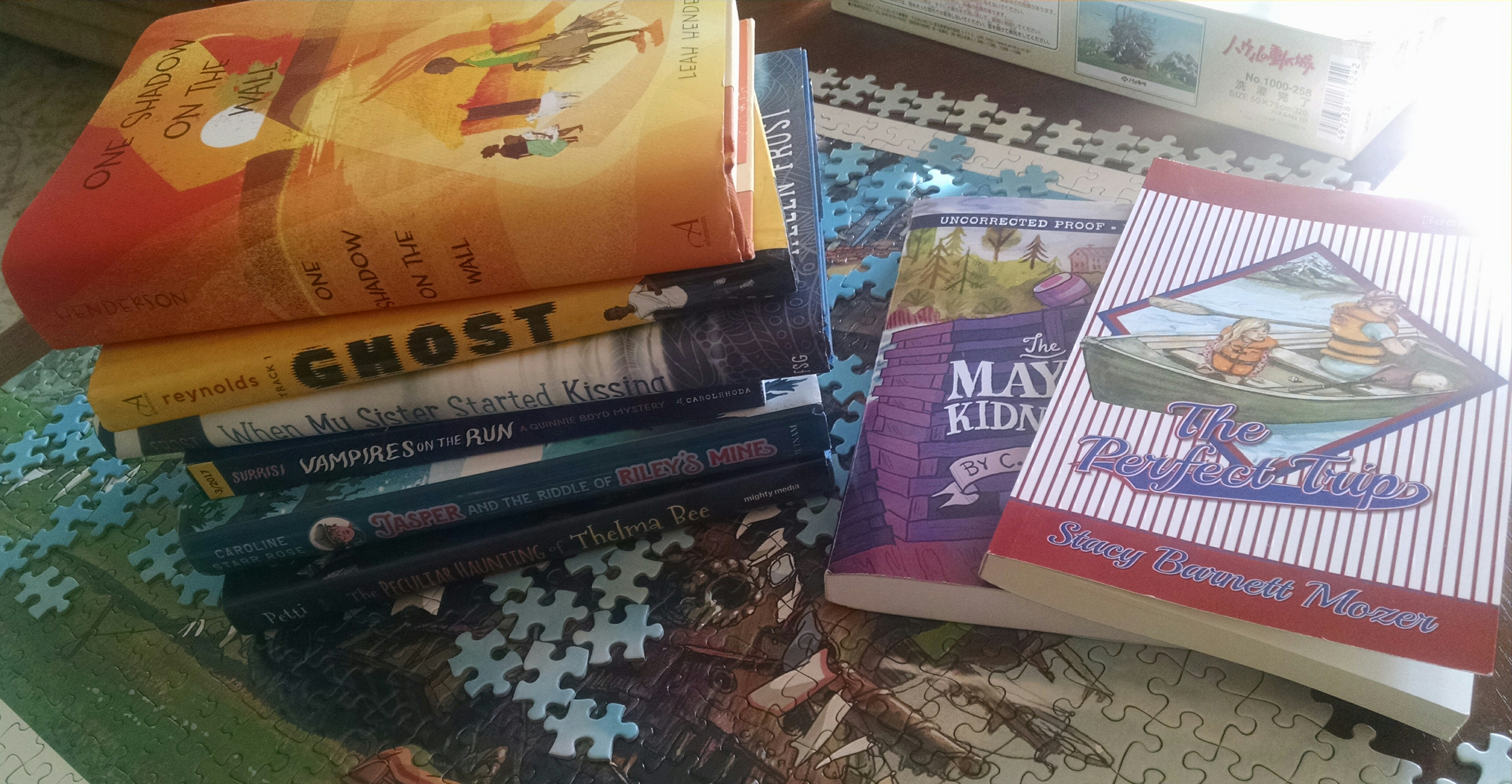 The Art of Summer Reads and Author and Poet's Laura Shovan's TBR