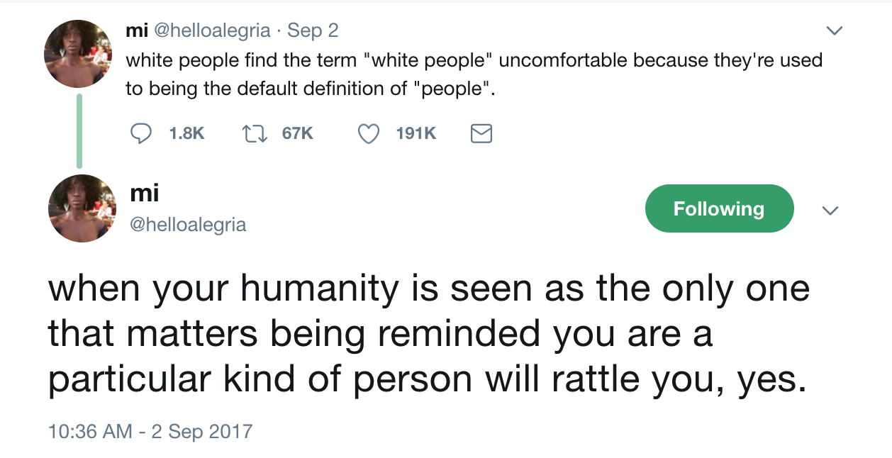 Writing While White