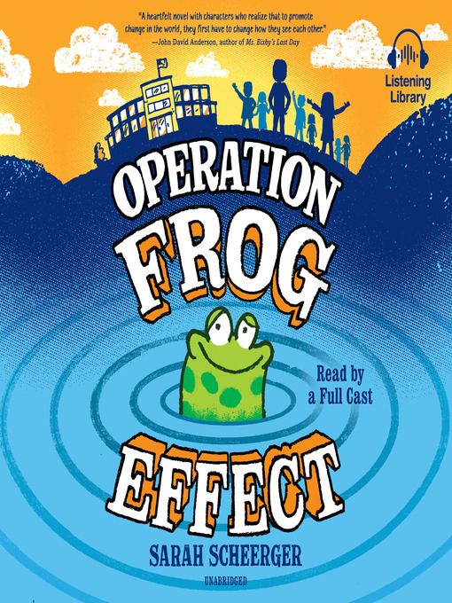 AUTHOR INTERVIEW: Sarah Scheerger on debut OPERATION FROG EFFECT